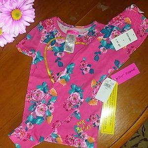 Betsey Johnson - Pink Floral Cotton Pajamas